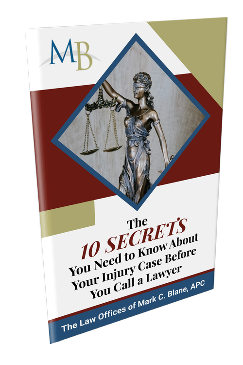 FREE Book: The 10 SECRETS You Need to Know About Your Injury Case BEFORE You Call a Lawyer!